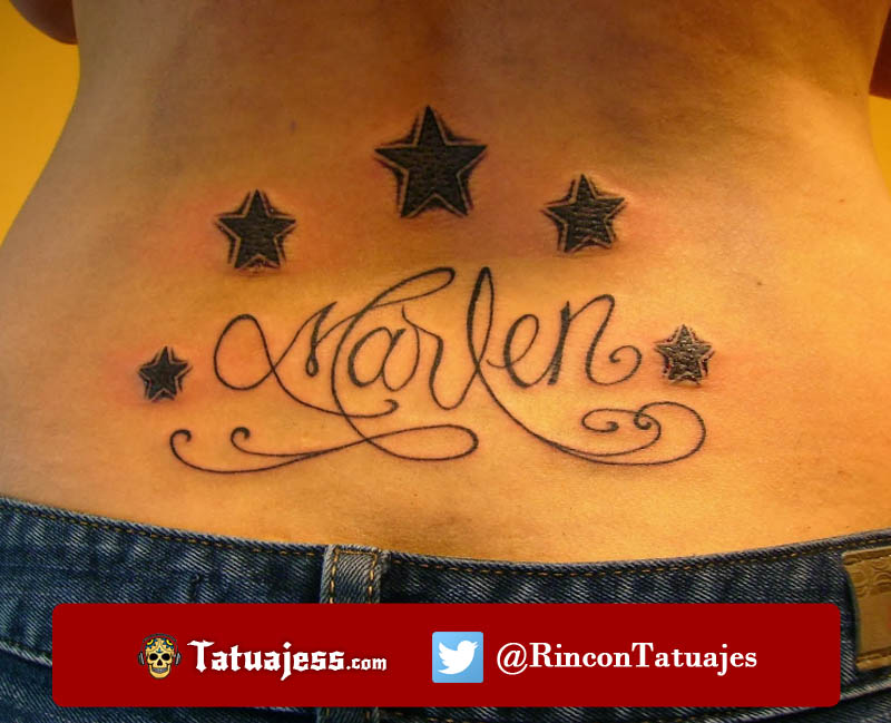 Tatuaje de nombre para mujer (Marlen)