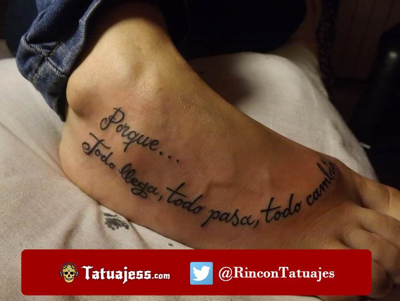 Tatuaje de frase para mujer