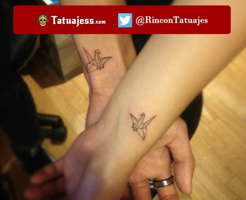Tatuajes en parejas pequeños (Origami)