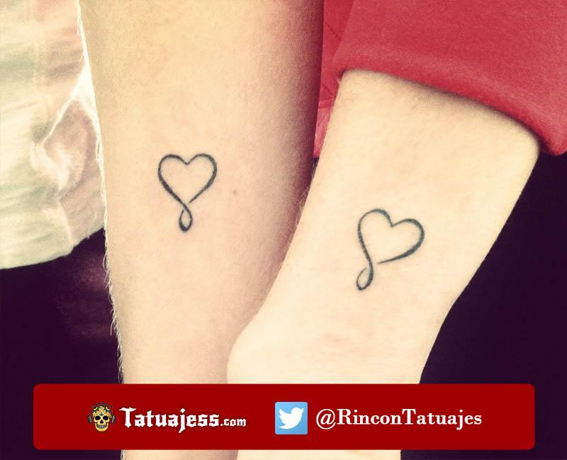 Tatuajes en parejas pequeños (Corazones)