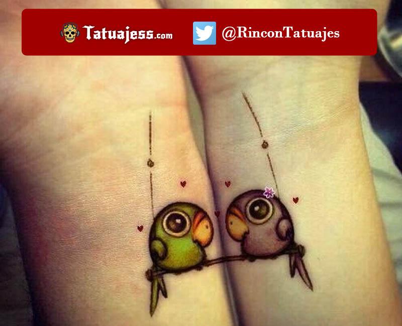 Tatuajes en parejas pequeños (Pajaros)