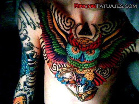 Tatuajes De Búhos Ideas Y Fotografías