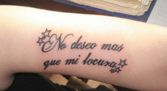Tatuajes De Frases Ideas Y Fotografías