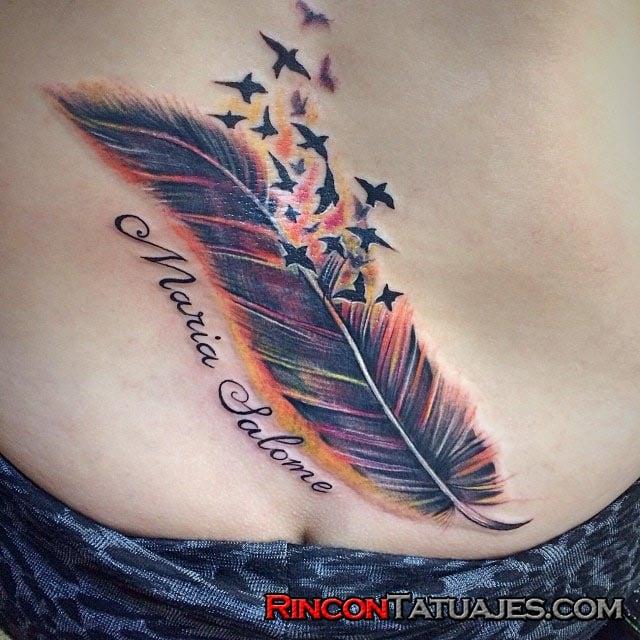 Tatuajes De Plumas Ideas Y Fotografías