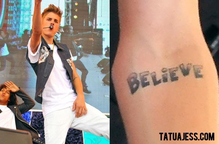 Tatuaje de Justin Bieber - BELIEVE