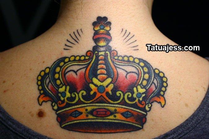 tatuajes de coronas , color 8