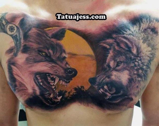 tatuajes de lobos ideas y fotograf as. Black Bedroom Furniture Sets. Home Design Ideas