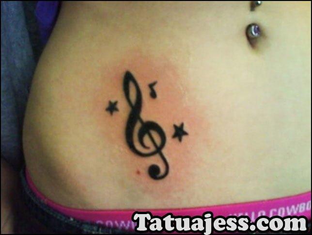 Tatuajes de notas musicales