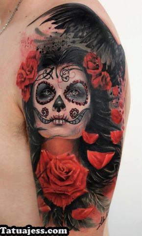 Tatuajes de catrinas , color 2
