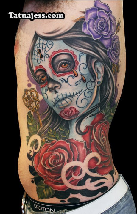 Fotografías de tatuajes de catrinas en color. SONY DSC