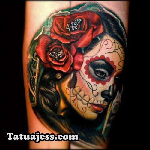 Tatuajes De Catrinas Ideas Y Fotografías