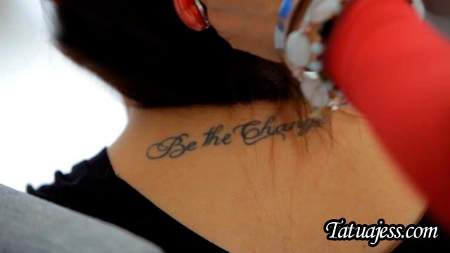 Tatuajes de Yuya - Be the change