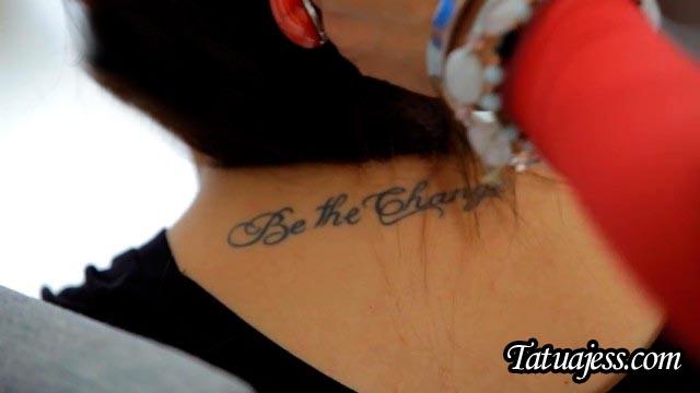 Tatuajes de Yuya - Be the change