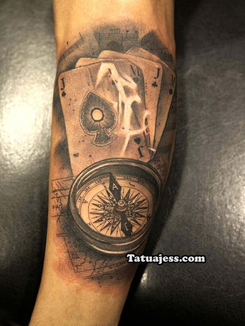 Tatuajes De Brújulas Ideas Y Fotografías