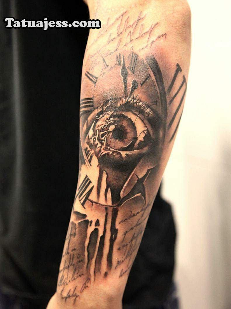 Tatuajes De Relojes Los Mejores Diseños