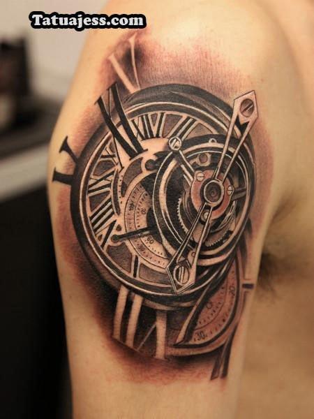 Tatuajes de relojes - blanco y negro 7