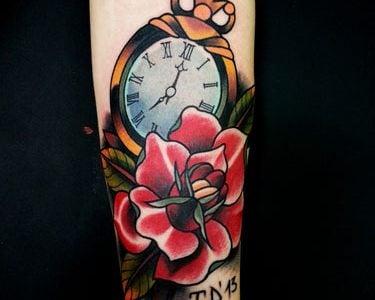 Tatuajes De Relojes Los Mejores Disenos