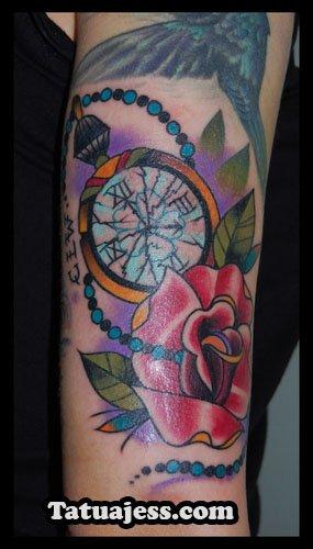 Tatuajes de relojes - color 3