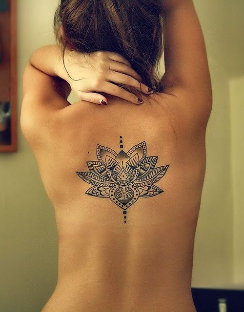 Tatuajes En La Espalda Para Mujeres Ideas Y Fotografías