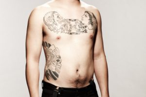 Young Male Model with Tattoos