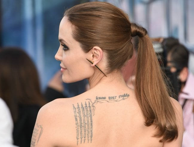 tatuajes de angelina jolie ideas y fotograf as
