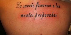 Tatuajes de frases en español