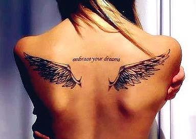 Tatuajes De Alas En La Espalda Ideas Y Fotografías