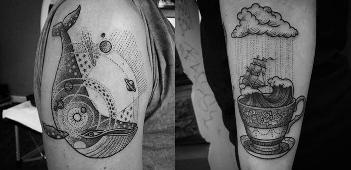 Estilo de tatuaje Dotwork
