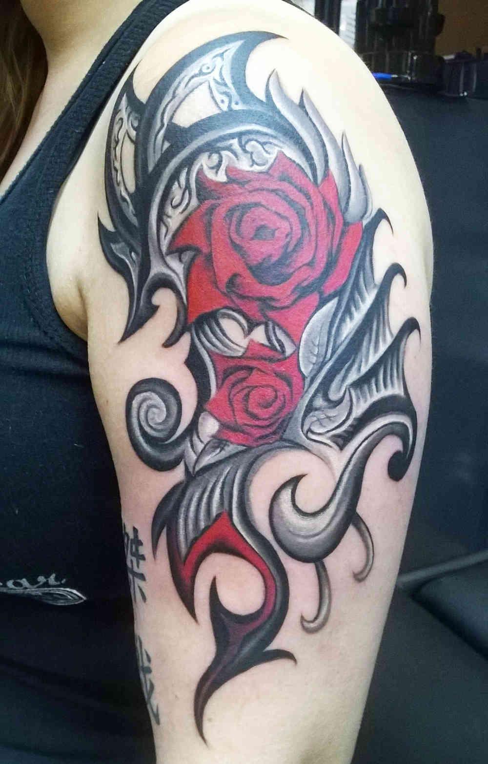 Tatuajes De Rosas Para Hombres Ideas Y Fotografías