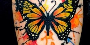 tatuaje mariposa color