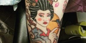 tatuajes de geishas old school