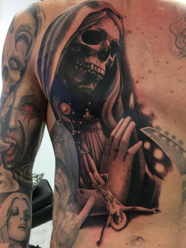 Tatuajes De La Santa Muerte Ideas Y Fotografías