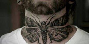 tatuaje en la garganta hombre