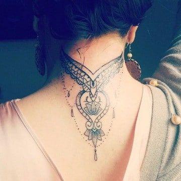Tatuajes En El Cuello Para Mujeres Ideas Y Fotografias