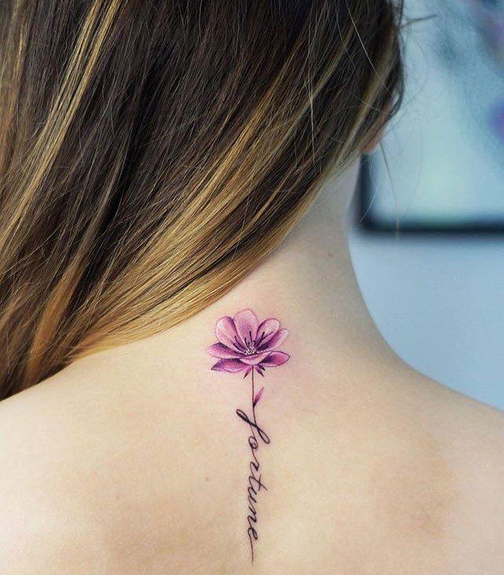 Tatuajes En El Cuello Para Mujeres Ideas Y Fotografías