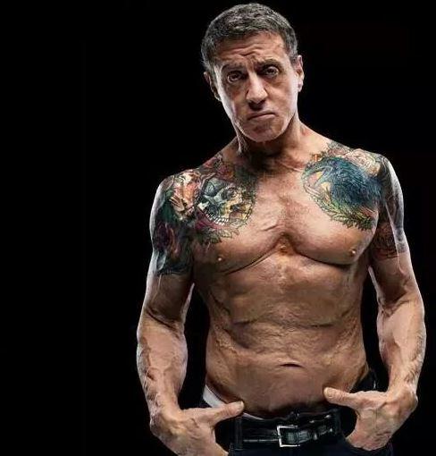 Tatuajes de SIlvester Stalone