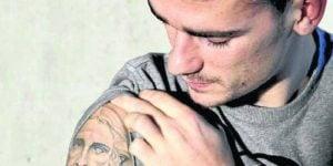 Tatuajes de Antoine Griezmann