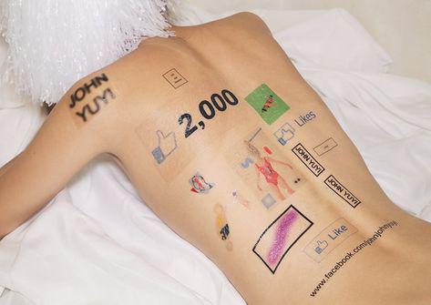 tatuaje de facebook