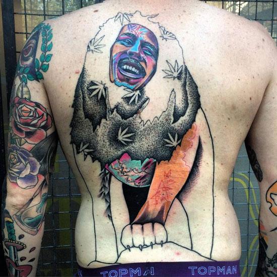 Tatuaje bob marley