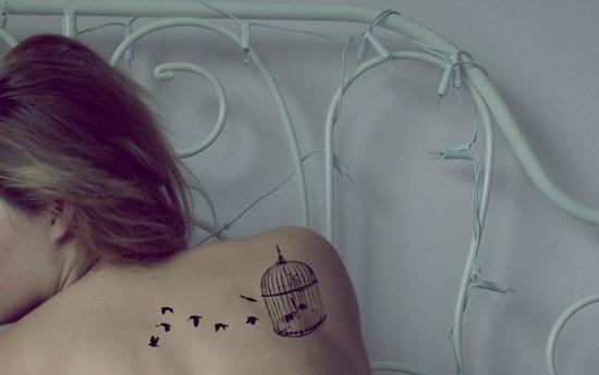 Tatuaje de pajaros